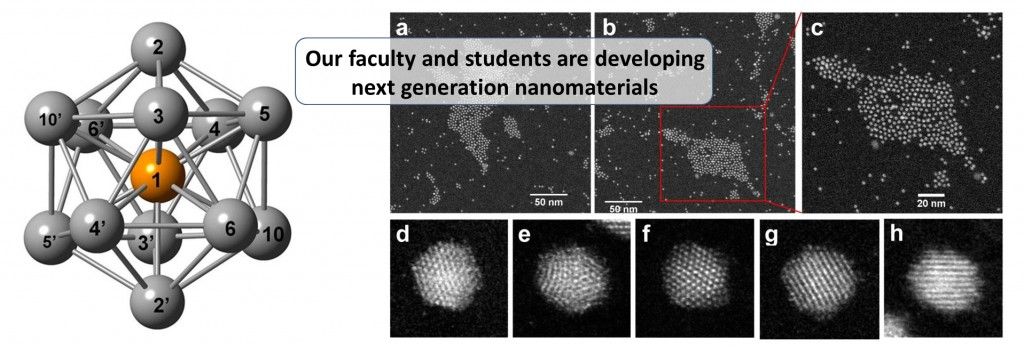 Our faculty and students are developing next generation nanomaterials