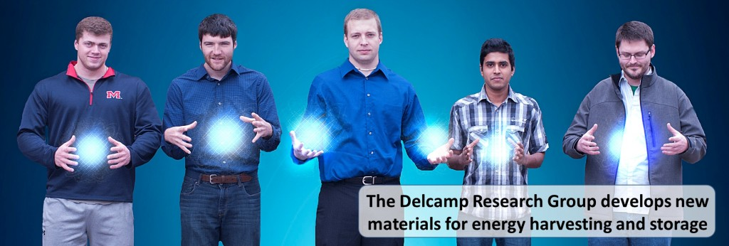 The Delcamp Research Group develops new materials for energy harvesting and storage