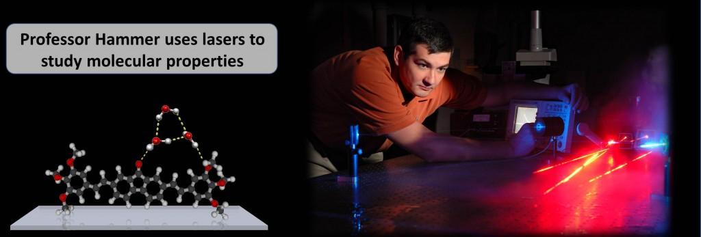Professor Hammer uses lasers to study molecular properties