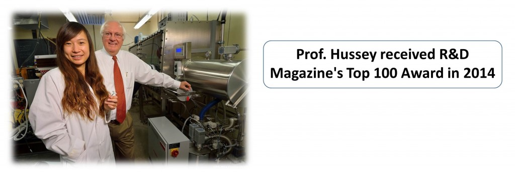 Prof. Hussey received R&D Magazine's Top 100 Award in 2014