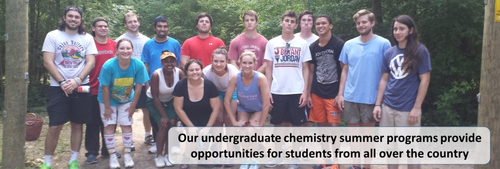Our undergraduate chemistry summer programs provide opportunities for students from all over the country