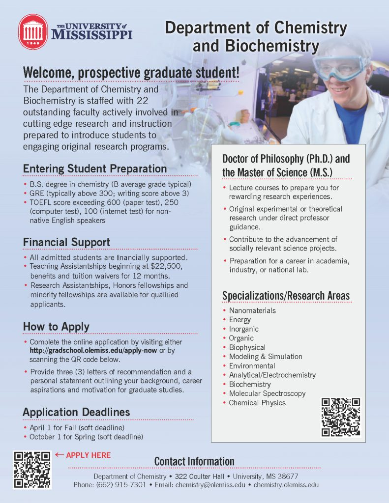 Department of Chemistry and Biochemistry - Graduate Program