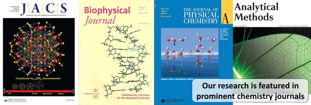 Our research is featured in prominent chemistry journals